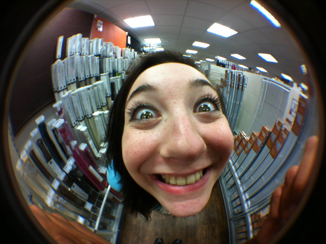 Fish eye lense porn